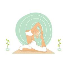 yoga practice vector image vector image