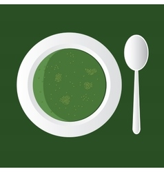 broccoli soup vector image vector image