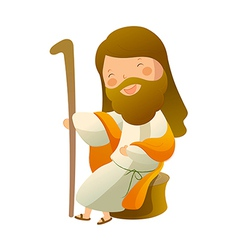 Close-up of Jesus Christ sitting vector image vector image