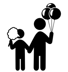 Entertainment pictograms flat family icon with vector