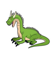 fairy tale dragon animal mystic fantasy vector image