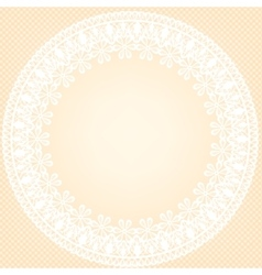 lace frame on yellow background vector image vector image