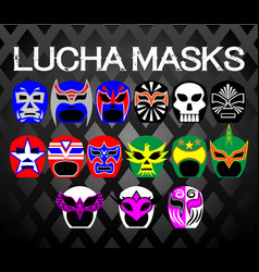 lucha-masks vector image