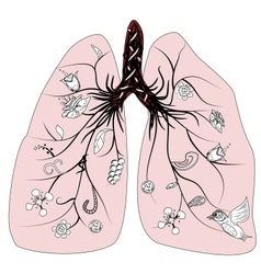 lung health vector image
