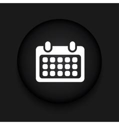 Modern calendar black circle icon vector