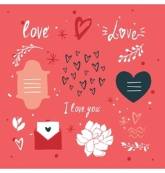 St Valentines Day lettering and cute design vector image vector image
