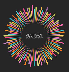 abstract colorful rays background with place for vector image