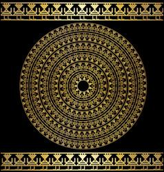 Dark and golden circle vector