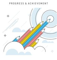 progress achievement vector image vector image