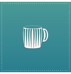 empty beer mug vector image vector image