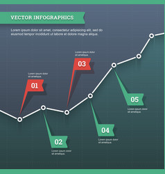 Line chart infographic vector image vector image