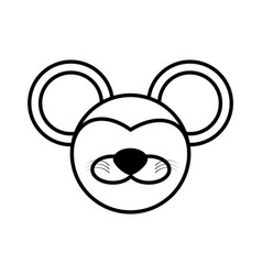 outline mouse head animal vector image