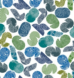 Seamless pattern with numbers textured with print vector image