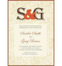 Wedding Invitation floral card vector image vector image