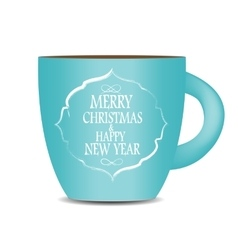 Abstract Beauty Christmas and New Year Cofee Cup vector