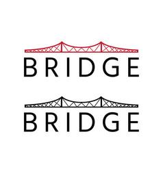 abstract bridge construction design template vector image