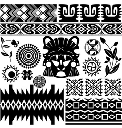 Ancient America pattern set small vector