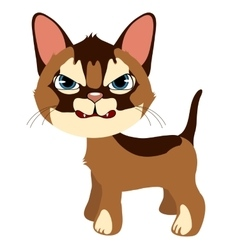 Angry ginger cat cartoon pet isolated vector