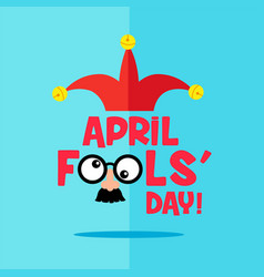 April fool s day typography vector