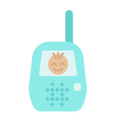 Baby monitor flat icon mobile and child control vector
