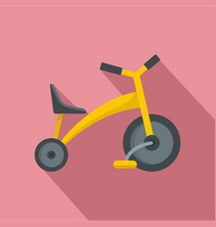 baby tricycle icon flat style vector image