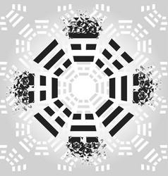 Bagua symbol vector