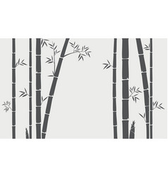 bamboo tree silhouette background vector image