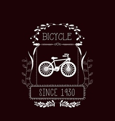 Bicycle Vintage frames and Floral Ornaments vector
