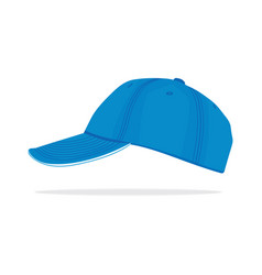 Blue cap vector