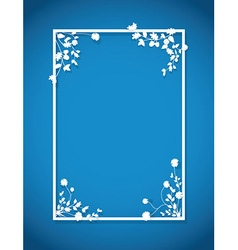 Blue floral box vector
