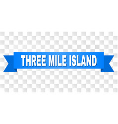 Blue tape with three mile island title vector