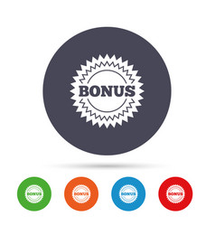 Bonus sign icon special offer star symbol vector