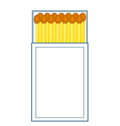 Box of matches vector
