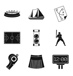 Cheerleader icons set simple style vector