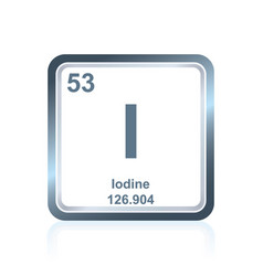 chemical element iodine from the periodic table vector image