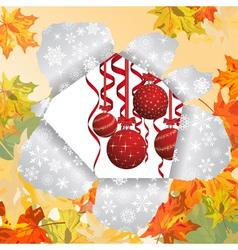 christmas autumn vector image