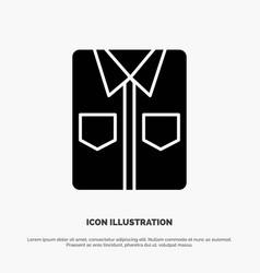 clothes shirt tshirt shopping solid black glyph vector image