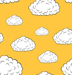 clouds seamless wallpaper vector image vector image