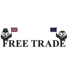 Comical united kingdom free trade vector