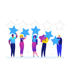 company rating - flat design style colorful vector image