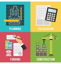 Construction process Infographic template vector