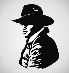 Cowboy stencil vector