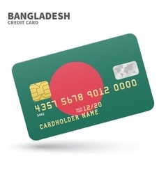 Credit card with Bangladesh flag background for vector