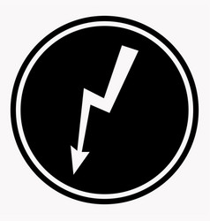 danger high voltage warning sign electric hazard vector image