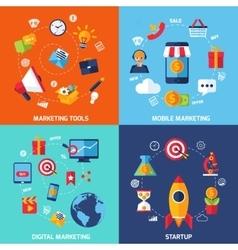 Digital Marketing Set vector image