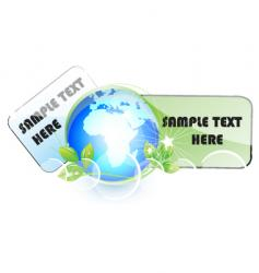 earth tags vector image