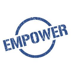 Empower stamp vector