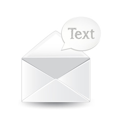 Envelope text vector