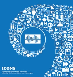 Equalizer icon Nice set of beautiful icons vector