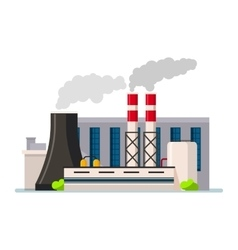 Factory building icon flat style vector